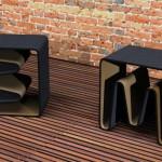 创意家居凳子和书架