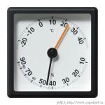 时钟温度湿度计