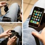 Thiphone腿上的iphone支架