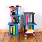 可随意组合变化的书架Bookspile