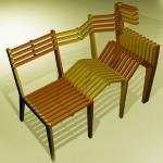 连续折叠长椅