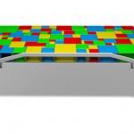 彩色魔方办公桌