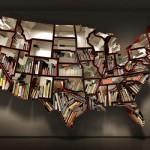 美国地图书架