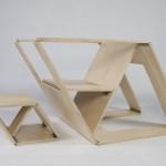 胶合板创意折叠椅