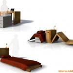 桌子床二合一家具