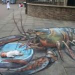 来自Julian Beever惊人的街头3D绘画