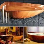 10个豪华的创意木制浴缸