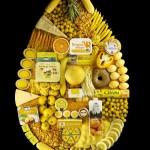 多彩的食物造型创意广告