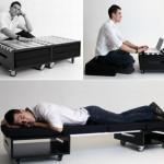 可以变为客床的创意咖啡桌:Somnys