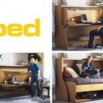 创意家具桌子和床二合一:study bed