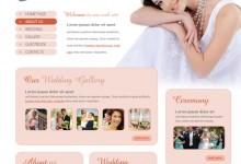 15个优秀的婚礼网站模板集合