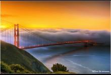 奇美的桥梁摄影照片