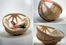 创意家具:摇篮床
