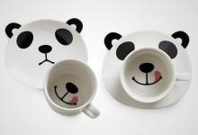 创意的熊猫杯子设计