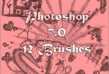 20组免费创意的涂鸦Photoshop笔刷下载
