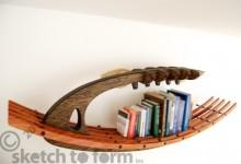 创意书架:武士木头架子