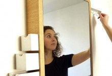 创意家具:镜子收纳柜