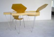 创意家具:模块化的蜂巢桌子
