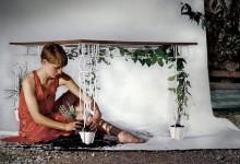 创意家具:金属木头混合创意餐桌