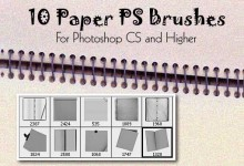 50组有用的纸张Photoshop笔刷下载