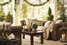 33个带有圣诞氛围的客厅装饰效果