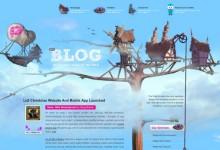 35个创意的蓝色系WordPress站点设计