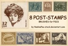 30组免费的邮票Photoshop笔刷