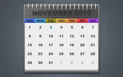 32个创意的日历设计PSD模版下载