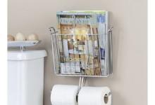 创意的厕所书纸架