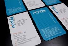 30个优秀的蓝色系创意名片设计