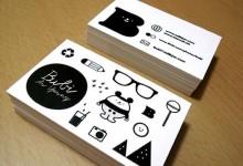30张奇妙的白色创意名片设计