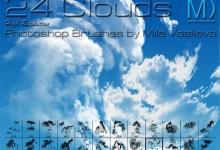 18个免费的云朵Photoshop笔刷下载