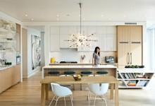 30个创意的厨房照明设计方案