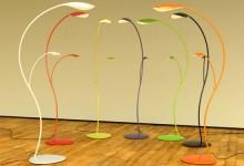 创意的树叶落地灯设计:FloorLeaf