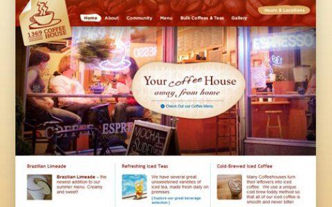 30个以咖啡为主题的创意网站设计