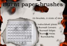 25组以纸为主题的Photoshop笔刷下载