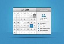 40个免费的日期设计PSD文件下载