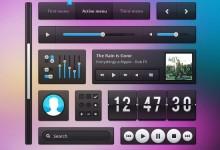 45个免费的手机网页UI设计元素PSD下载