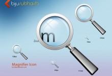 11个免费的放大镜搜索图标PSD文件下载