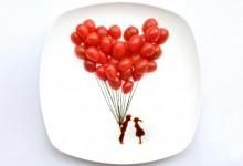 盘子上的食物艺术