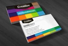30个颜色多彩的创意名片设计