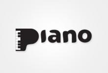 21个以钢琴为主题的创意Logo设计