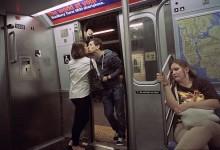 14张纽约街头情侣亲吻瞬间照片