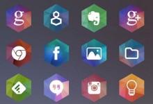 15组免费的六边形Icon图标集下载