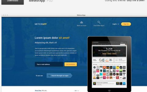 14个最新的免费网站模板PSD下载