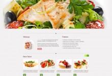 30个免费餐厅餐馆网站模板下载