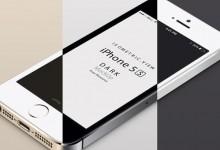 40个免费的iPhone和Android手机样机PSD文件