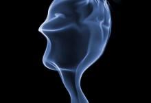 完美的烟雾形状艺术摄影照片