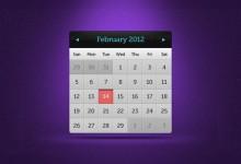13个高品质的日历设计PSD模板