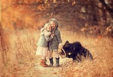 15张可爱的动物和儿童摄影照片欣赏